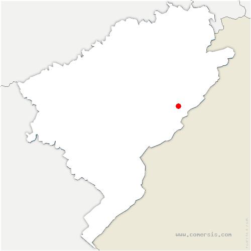 carte de localisation de Bizot