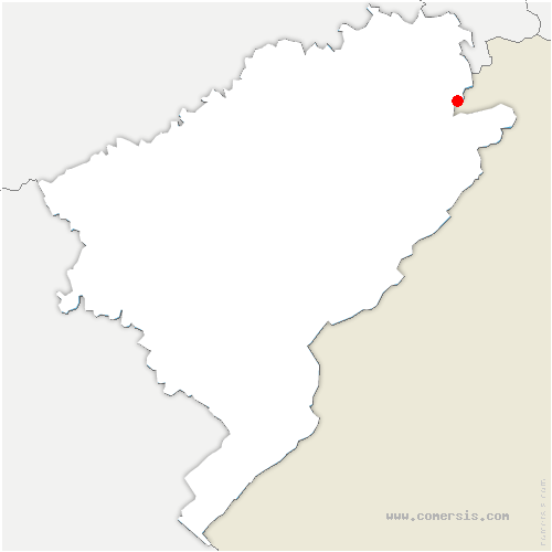 carte de localisation de Blamont