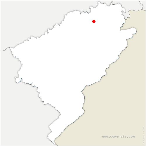 carte de localisation de Blussangeaux