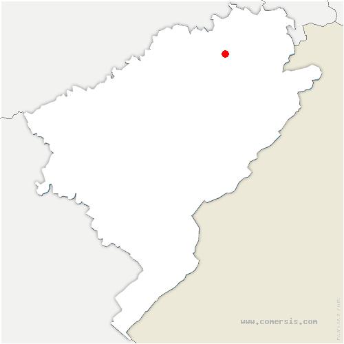 carte de localisation de Blussans