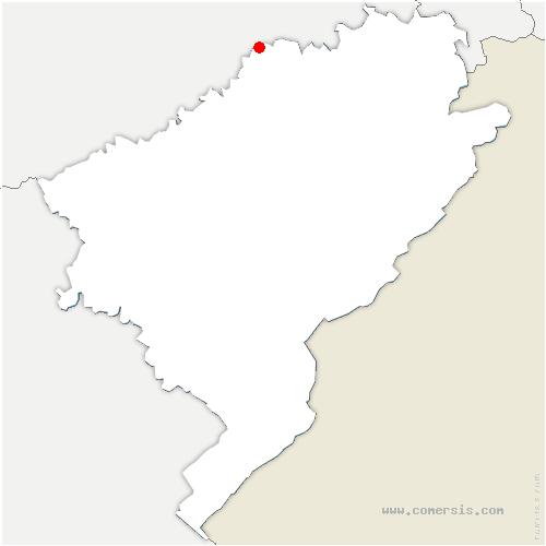 carte de localisation de Bonnal