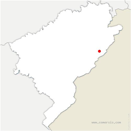 carte de localisation de Bonnétage