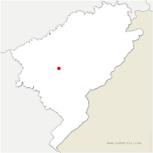 carte de localisation de Bonnevaux-le-Prieuré