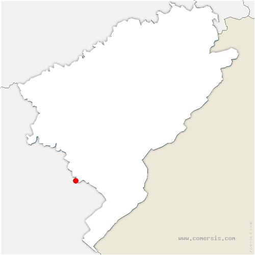 carte de localisation de Boujailles