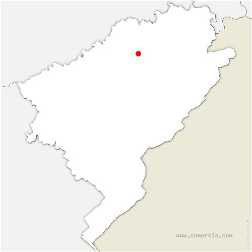 carte de localisation de Branne