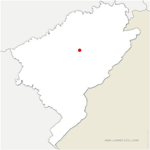 carte de localisation de Bremondans