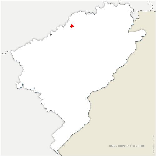 carte de localisation de Bretenière