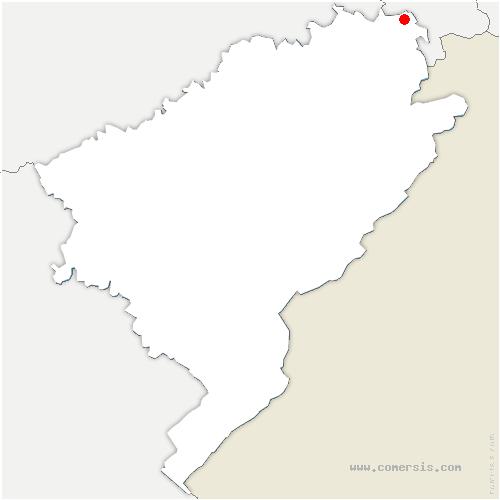 carte de localisation de Brognard