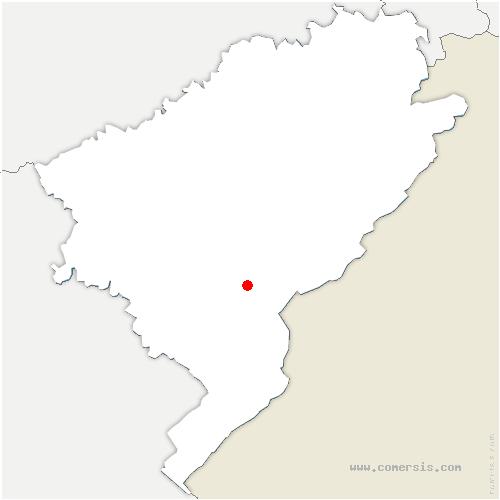 carte de localisation de Bugny