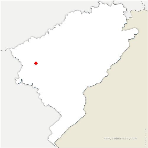 carte de localisation de Busy