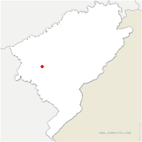 carte de localisation de Cademène