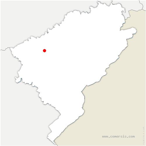carte de localisation de Chalezeule