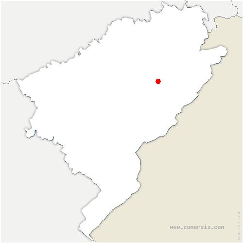 carte de localisation de Chamesey
