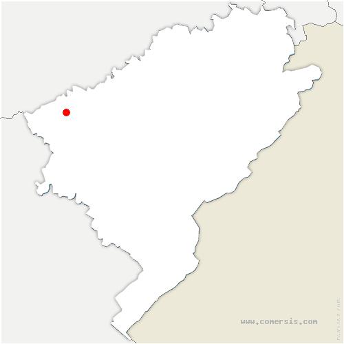 carte de localisation de Champvans-les-Moulins