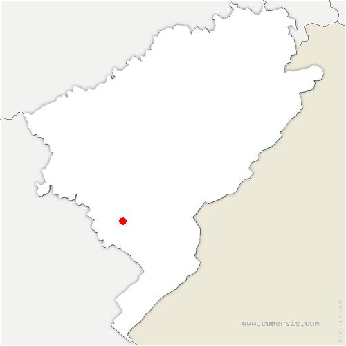carte de localisation de Chapelle-d'Huin