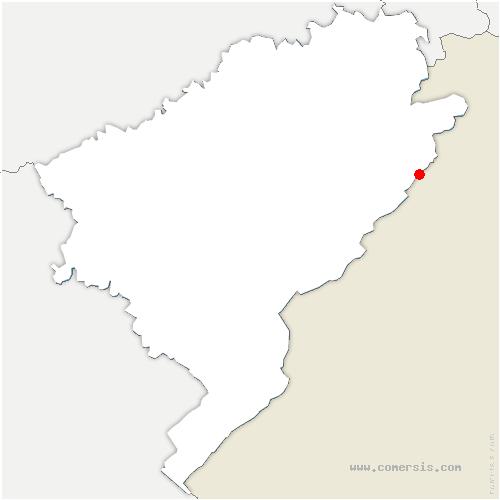 carte de localisation de Charquemont