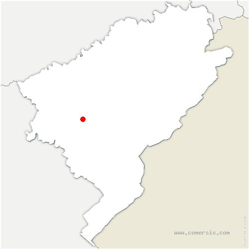 carte de localisation de Chassagne-Saint-Denis