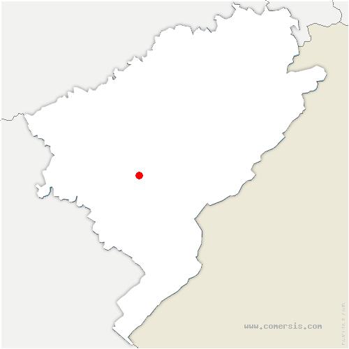 carte de localisation de Châteauvieux-les-Fossés