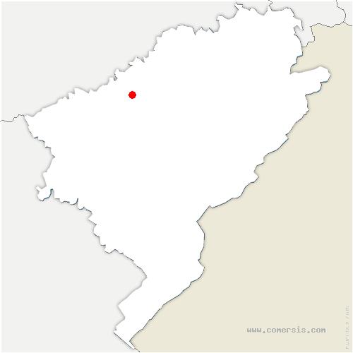 carte de localisation de Châtillon-Guyotte