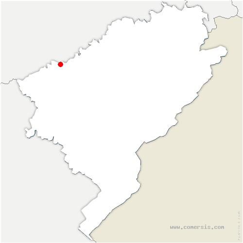 carte de localisation de Châtillon-le-Duc