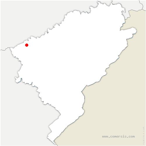 carte de localisation de Chaucenne