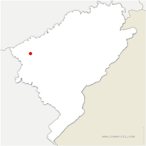 carte de localisation de Chemaudin et Vaux