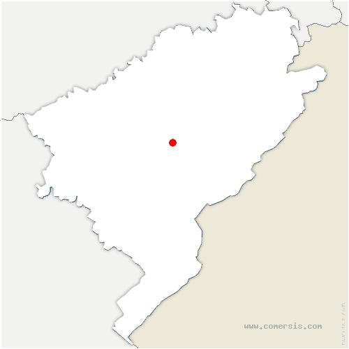 carte de localisation de Chevigney-lès-Vercel
