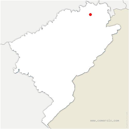 carte de localisation de Colombier-Fontaine