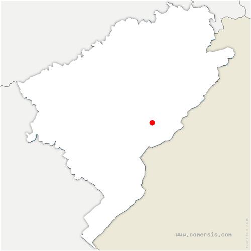 carte de localisation de Combes
