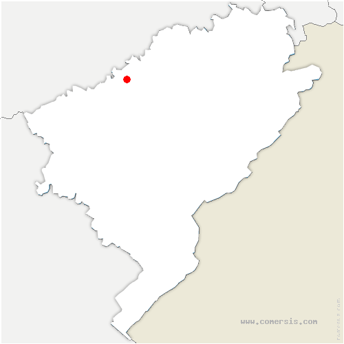 carte de localisation de Corcelle-Mieslot