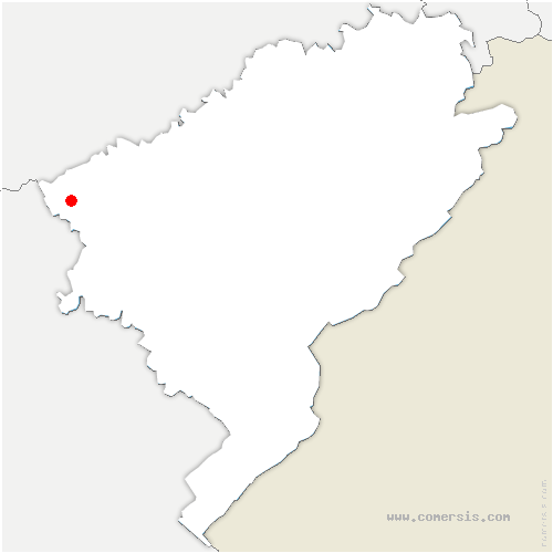 carte de localisation de Corcelles-Ferrières