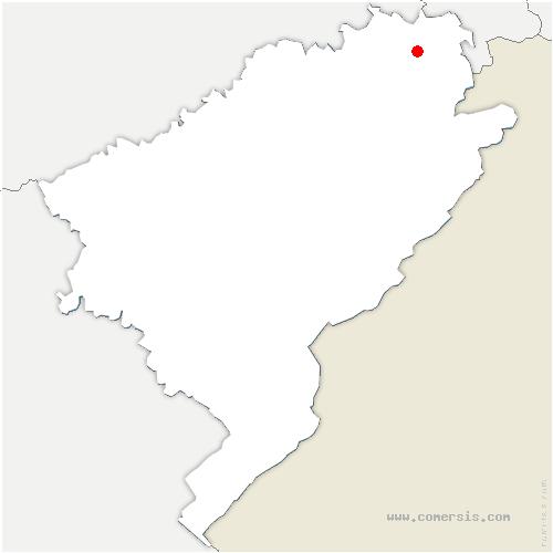 carte de localisation de Courcelles-lès-Montbéliard