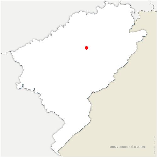 carte de localisation de Courtetain-et-Salans