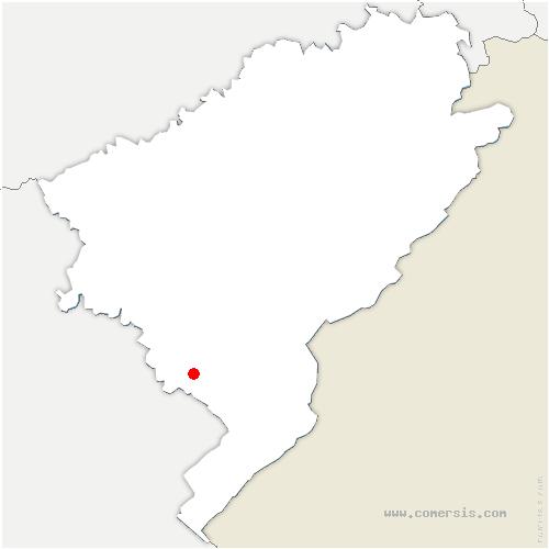 carte de localisation de Courvières