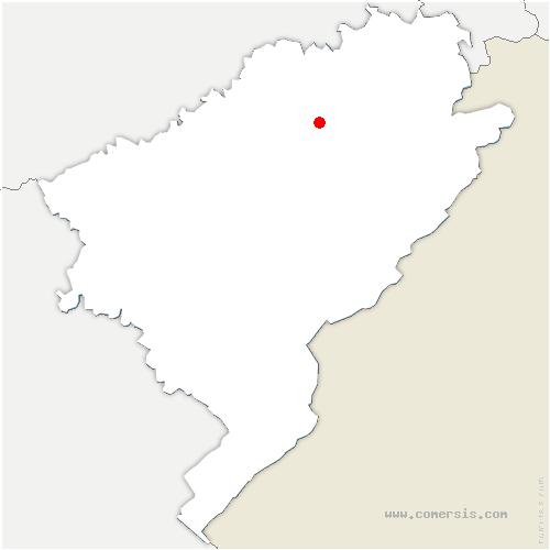 carte de localisation de Crosey-le-Grand