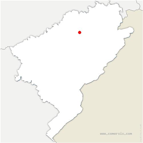 carte de localisation de Crosey-le-Petit