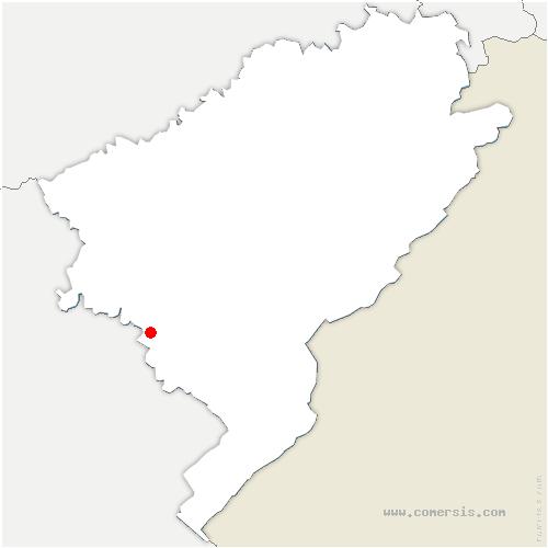 carte de localisation de Crouzet-Migette