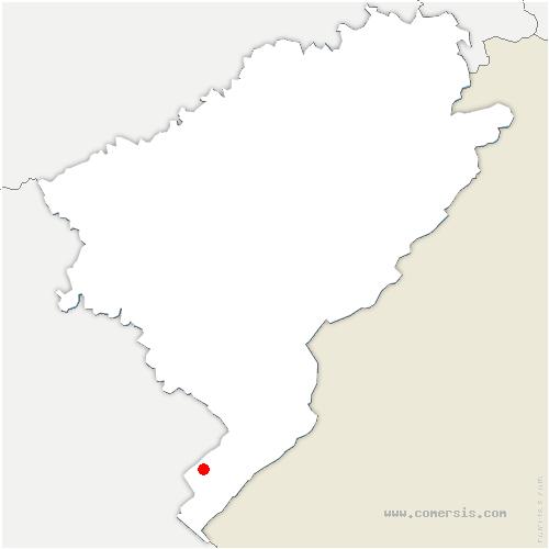 carte de localisation de Crouzet