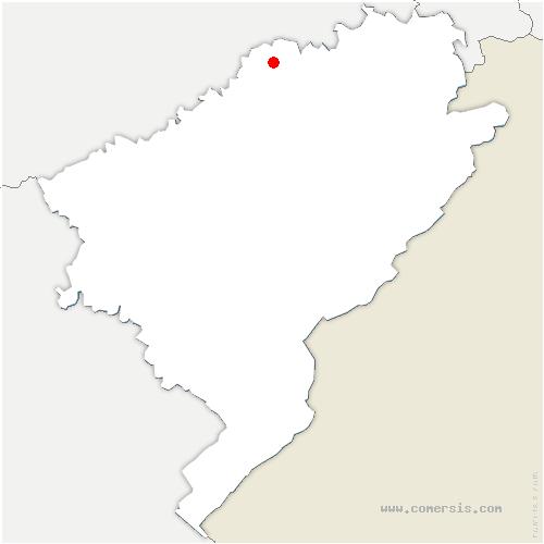 carte de localisation de Cuse-et-Adrisans
