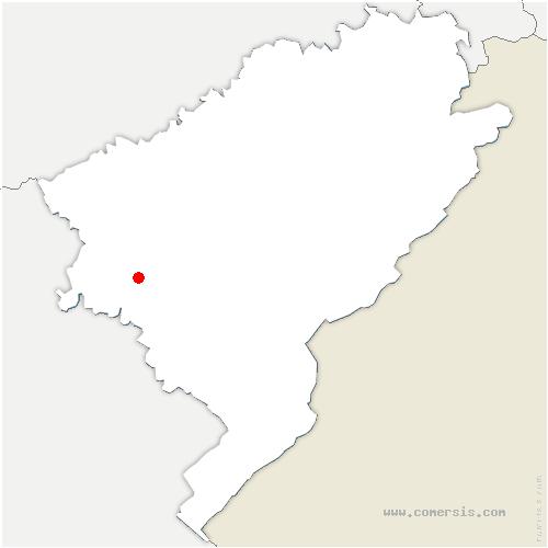 carte de localisation de Cussey-sur-Lison