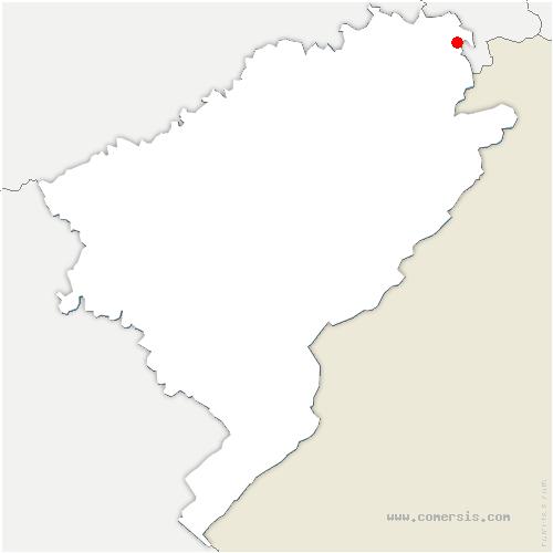 carte de localisation de Dampierre-les-Bois