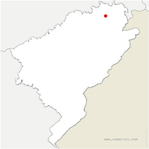 carte de localisation de Dampierre-sur-le-Doubs