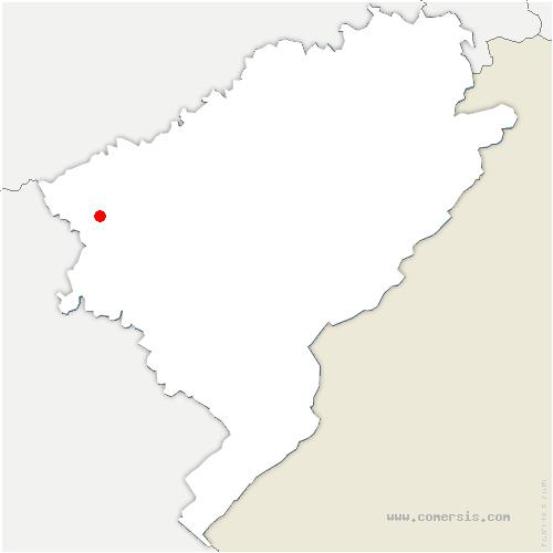 carte de localisation de Dannemarie-sur-Crète