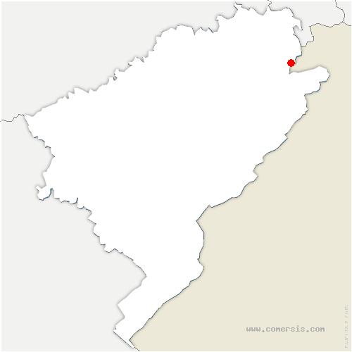 carte de localisation de Dannemarie