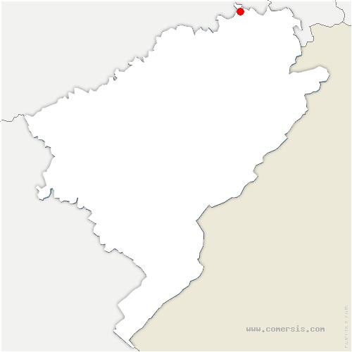 carte de localisation de Désandans