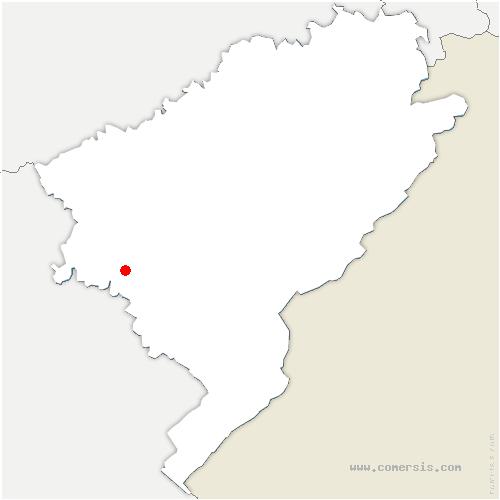 carte de localisation de Échay