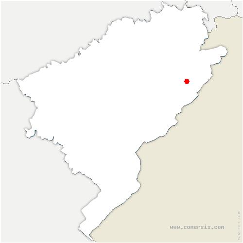 carte de localisation de Écorces
