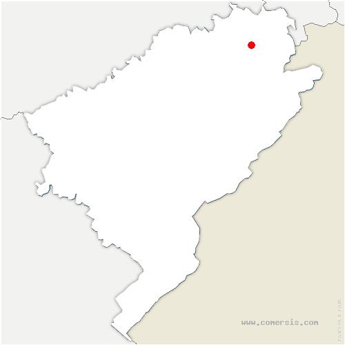 carte de localisation de Écot