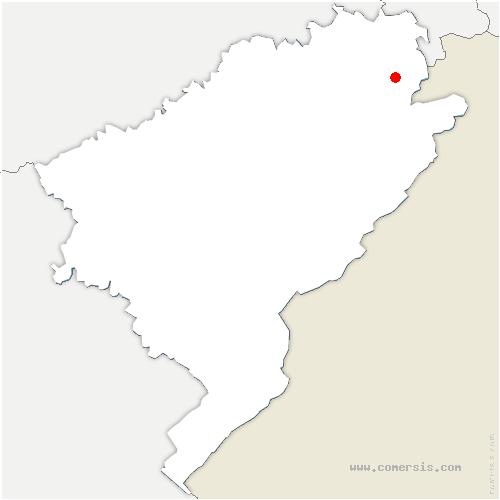 carte de localisation de Écurcey