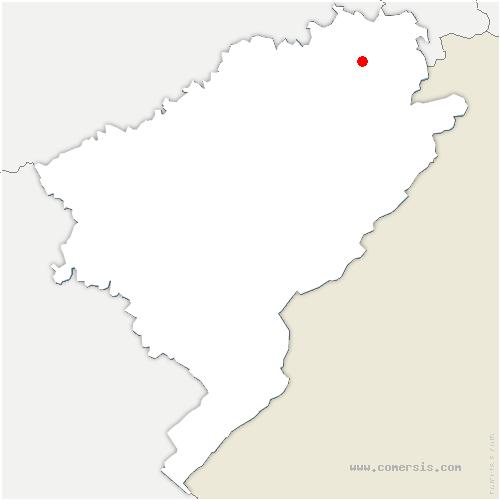 carte de localisation de Étouvans